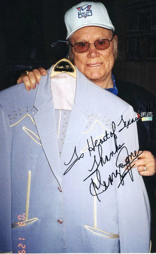 county hall of famer george jones with his nudie designed suit on display at the heart of texas country music museum