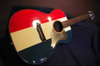 m buck owens red white and blue guitar 2