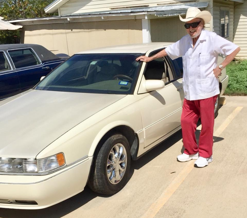 texas legend johnny bush donates his cadillac to the heart of texas country music museum