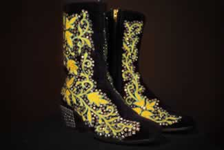 x mary lou turners nudie rhinestone boots used while touring with bill anderson 1